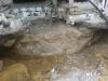 Brunnen freigelegt - ehemalige Papiermühle